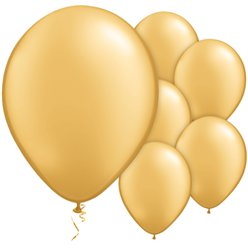 Gold Metallic Balloons - 11'' Latex