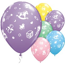 Baby's Nursery Assorted Balloons - 11