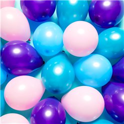 "Mermaid Mini Balloons Pack - 5"" Latex Balloons"