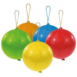 Assorted Punch Ball Balloons - Latex