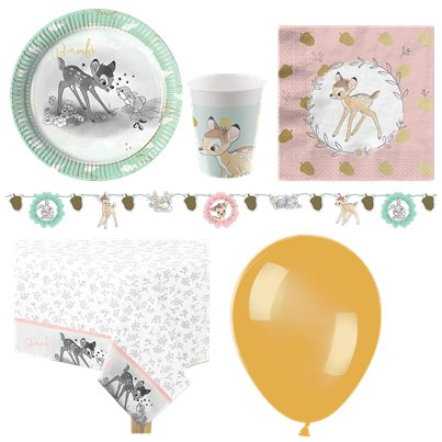 Bambi Party Pack - Deluxe Pack For 8