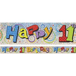 Happy 11th Birthday Banner - 3.6m