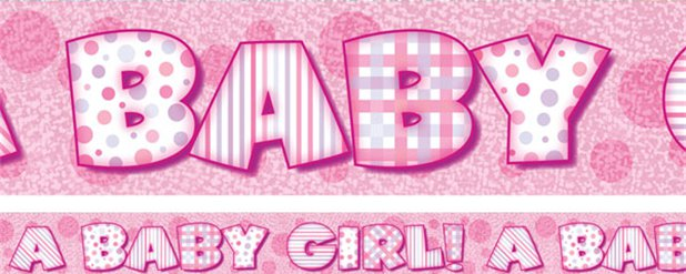 A Baby Girl Pink Banner - 3.7m
