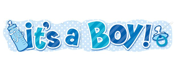 Giant Its A Boy Banner - 4.5ft