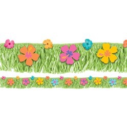 Hibiscus Fringe Banner - 1.8m Hawaiian Decoration