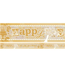 Holographic Happy Engagement Foil Banner - 2.7m
