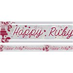 Holographic Ruby Anniversary Foil Banner - 2.7m