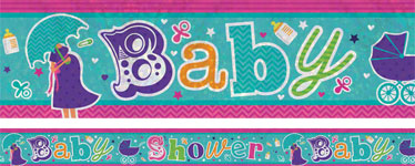 Holographic Baby Shower Foil Banner - 2.7m