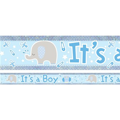Holographic It's a Boy Foil Banner - 2.7m