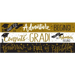 Graduation Paper Banners - 3 Designs