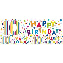 Bright Stars 10th Birthday Foil Banner - 2.6m