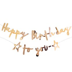 Happy Birthday to You Gold Letter Banner