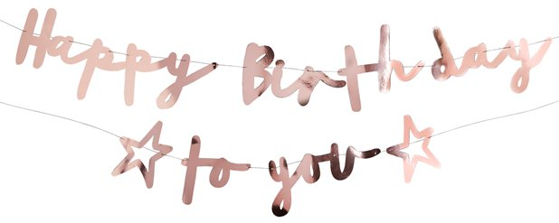 Happy Birthday to You Rose Gold Letter Banner