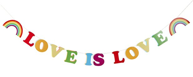 Love is Love Letter Banner - 2m