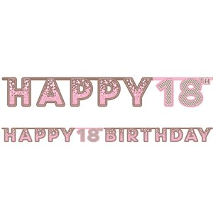 Pink 18th Birthday Letter Banner