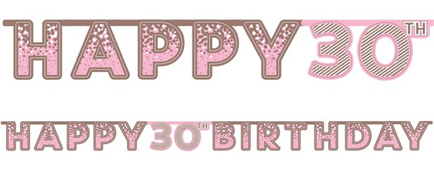 Pink 30th Birthday Letter Banner
