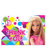 Barbie Party Thank You Cards
