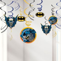 Batman Hanging Decorations - 55cm Hanging Swirls