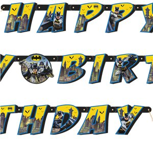 Batman Jointed Letter Banner