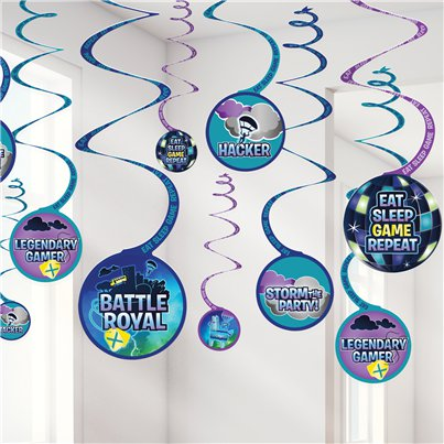 Battle Royal Hanging Swirl Decorations