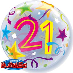 21st Birthday Bubble Balloon - 22