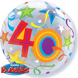 40th Birthday Bubble Balloon - 22""