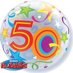 50th Birthday Bubble Balloon - 22""