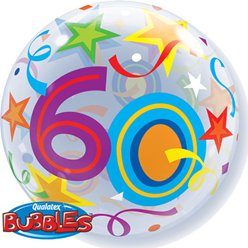 60th Birthday Bubble Balloon - 22