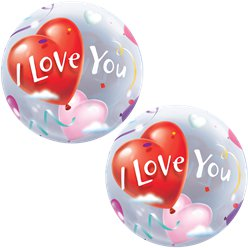 'I Love You' Valentine's Bubble Balloon - 22""
