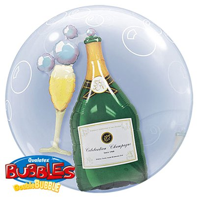 Champagne Double Bubble Balloon - 24""