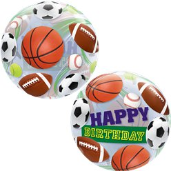Birthday Sports Balls Bubble Balloon - 22""