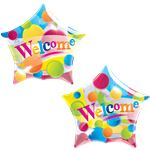 Welcome Big Dots Bubble Balloon - 22""