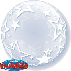Stylish Stars Qualatex Deco Bubble Balloon - 24