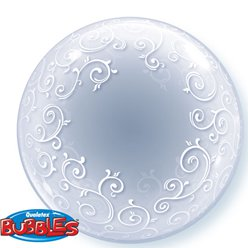 Fancy Filigree Qualatex Deco Bubble Balloon - 24""