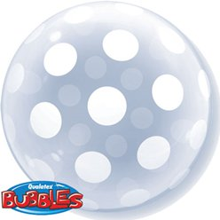 Stylish Polka Dots Qualatex Deco Bubble Balloon - 20""