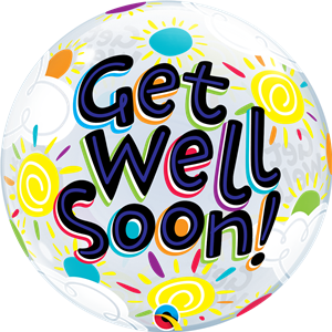 Get Well Soon Bubble Balloon - 22