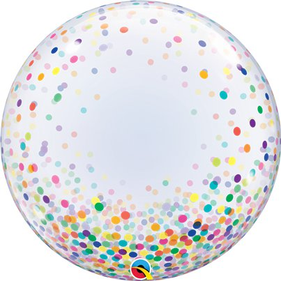 Colourful Confetti Printed Bubble Balloon - 24""