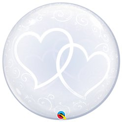 Entwined Hearts Clear Bubble Balloon - 24