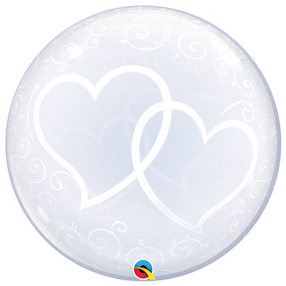 Entwined Hearts Clear Bubble Balloon - 24""