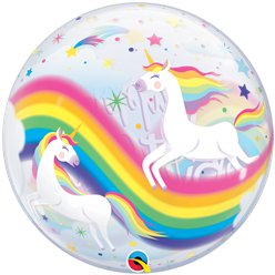 Unicorn Birthday Bubble Balloon - 22""