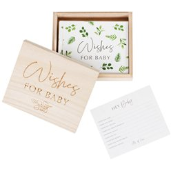 Botanical Baby Shower Advice Cards & Box