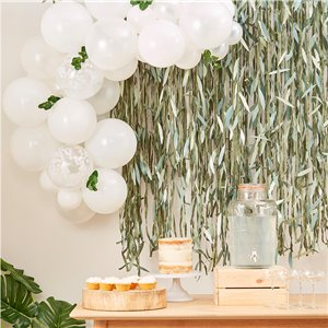 Botanical Baby Mini White Foliage Balloon Arch