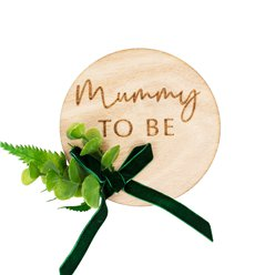 Botanical Baby Wooden Mummy To Be Badge