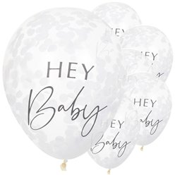 "Botanical Baby Confetti Balloons - 12"" Latex"