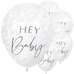 Botanical Baby Confetti Balloons - 12
