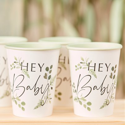 Botanical Baby Paper Party Cups