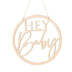 Botanical Baby Wooden Hey Baby Sign - 36cm