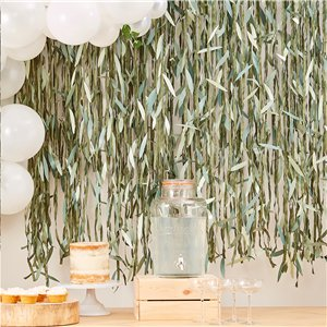Botanical Baby Green Leaf Backdrop - 100m