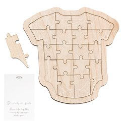 Botanical Baby Wooden Baby Grow Guest Book