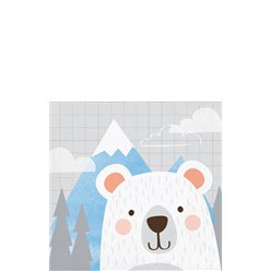 Birthday Bear Mountain Beverage Napkins - 25cm
